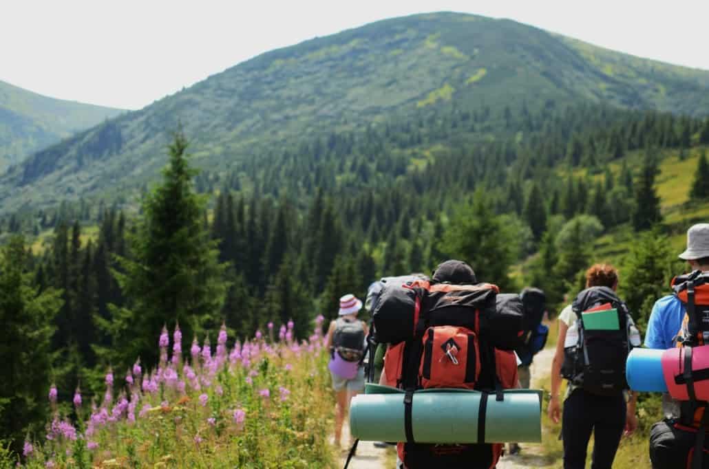 hiking with frineds